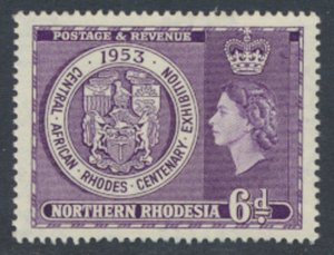 Northern Rhodesia  SG 59 Sc# 59  MNH see details Red Cross