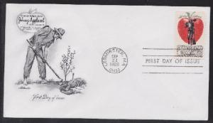 1317 Johnny Appleseed Unaddressed Artmaster FDC