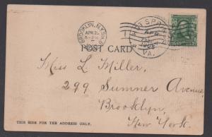 **US 20th Century Picture Post Card, Scott # 300, Hot Springs, VA ,4/1/1905