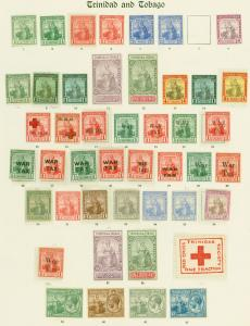 Trinidad & Tobago Fine Mint Stamp Collection for Issues QV - KGV on Old Imperial