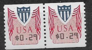 CUP 32 29 cent coil pair MNH