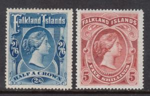 Falkland Islands #20 - #21 (SG #41 - #42) VF Mint
