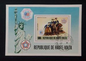 Upper Volta C 244, 1976 Amer. Independence Souvenir Sheet