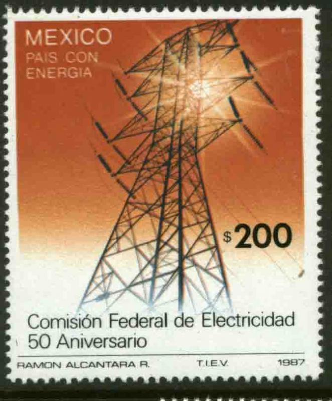 MEXICO 1508, 50th Anniversary Federal Power Commission. MINT, NH. F-VF.