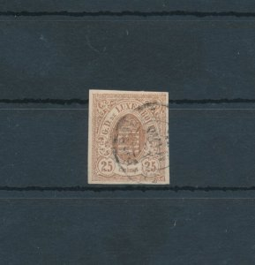 1859 - 63 Luxembourg - N° 8 - 25 Cent Bruno Used Vinyl Decals Olive