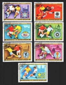 Mongolia. 1978. 1148-54. Football. USED.