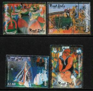 Antigua #2653-6 MNH Set - Paintings by Raoul Dufy