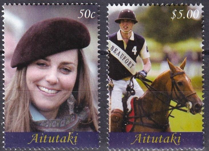 Aitutaki #562-3 MNH  CV $8.50  Z519