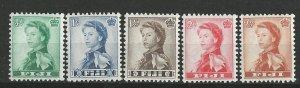 Fiji # 163-67   Queen Elizabeth II   1961-62  (5) Mint NH