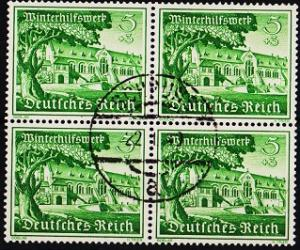 Germany. 1939 5pf+3pf(Block of 4)  S.G.720 Fine Used