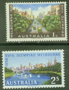 Australia Scott 290-291 MNH** 1956 Melbourne Olympic Games