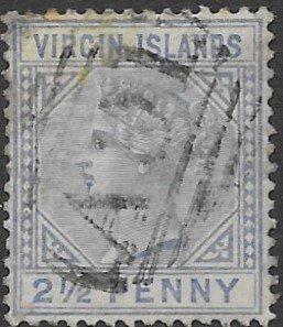 Virgin Island 15  1884  2 1/2 penny  fine used