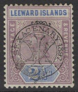 LEEWARD ISLANDS SG11 1897 2½d DULL MAUVE & BLUE MTD MINT