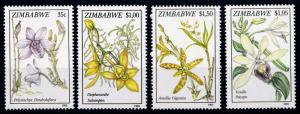 [67036] Zimbabwe 1993 Flora Flowers Blumen Orchids  MNH