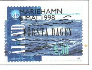 Aland Sc  146 1998 Year of the Ocean stamp used