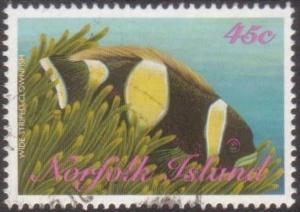 Norfolk Island 1998 SG669 45c Wide-striped Clownfish FU