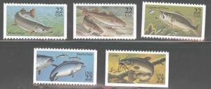 USA Scott 2205-2209 set of Fish stamps