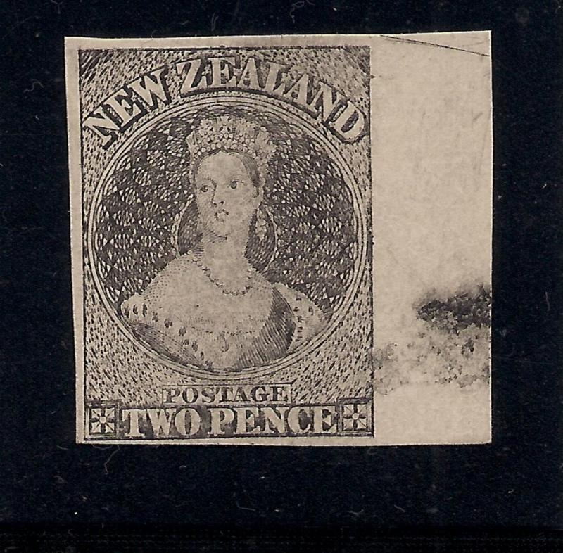 New Zealand - 2 Pence - Proof on Card