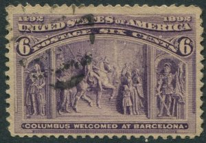 235 6c Columbian Exposition Used