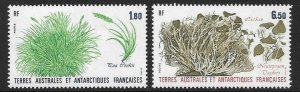 FRENCH SOUTHERN & ANTARCTIC TERRITORIES SG221/2 1987 PLANTS MNH