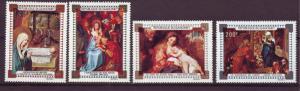 J15333 JLstamps 1971 dahomey set mnh #c147-50 art