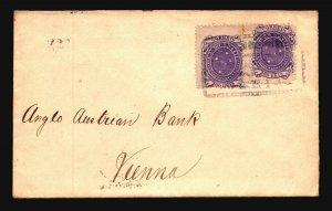 Brazil SC# 103a (x2) on 1894 Cover to Austria  - Z19409