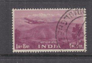 INDIA, 1955 1r.8a. Purple, used.