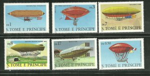 St. Thomas & Prince Islands MNH 561-6 Dirigibles SCV 9.65