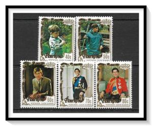Penrhyn Island #176-180 Royal Wedding Set MNH