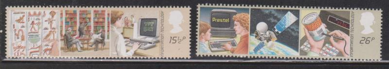 Great Britain Scott # 1000-1 Mint Never Hinged - Information Technology Issue