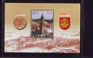 Lithuania Sc 727 2002 750th Anniv Klaipeda stamp sheet NH