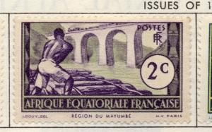 French Equatorial Africa 1937-40 Fine Mint Hinged 2c. Pictorial Issue 140507