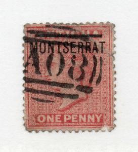 Montserrat - SG# 8 Used (1 pulled perf) / wmk crown CA Reversed -  Lot 0419270