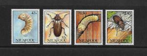 INSECTS - NIUAFOOU #140-3 MNH