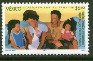 MEXICO 2333, NATIONAL ORGAN AND TISSUE DONATION WEEK. MINT, NH. VF.