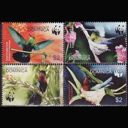 DOMINICA 2005 - Scott# 2520 WWF--Hummingbirds Set of 4 NH