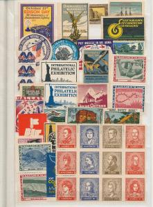 Germany Austria Usa Early Cinderella Poster Stamp Labels Unused (Appx 350)AC1079