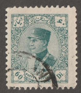 Persian stamp, Scott# 777, used hinged, 60 dr, green, Reza Shah Pahlavi, #B-21