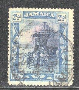 JAMAICA SCOTT #79 USED 1921 OVERSEAS CONTINGENT RETURN  SEE SCAN