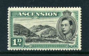 Ascension 1938 KGVI 1d Green Mountain SG 39 mint CV