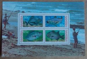 1994 Coastal Angling MNH Miniature Sheet from Namibia