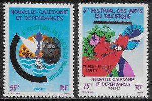 New Caledonia Scott #'s 528 - 529 MNH