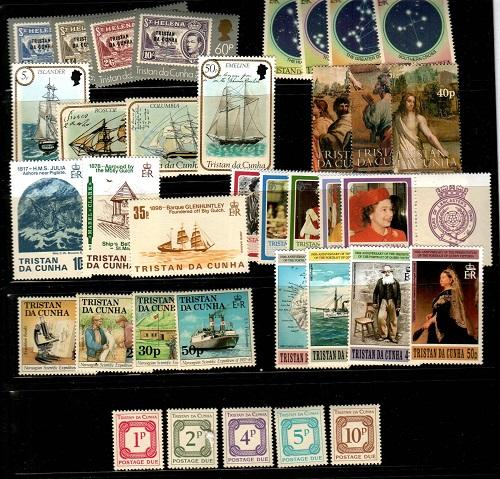 Tristan Da Cunha Scott 324 // 591,J6-10 Mint NH sets (Catalog Value $41.80)