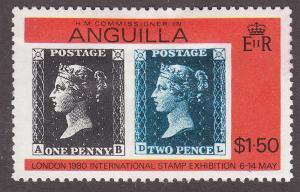Anguilla 373 Penny Black & Great Britain #2 1979