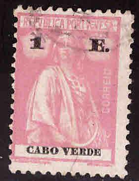 Cape Verde Scott 183q Used Ceres stamp