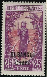 Ubangi-Shari Sc #30 F-VF Mint OG French Colonies are Hot!