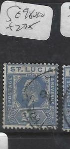ST LUCIA  (P2905B)   KGV 2 1/2D     SG 98       VFU