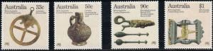 Australia SC963-966 Coastal Shipwrecks -Salvaged Antiquities MNH 1985
