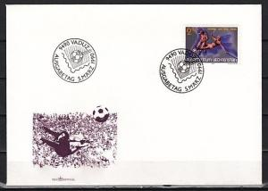 Liechtenstein, Scott cat. 927. World Cup Soccer issue. First day cover.
