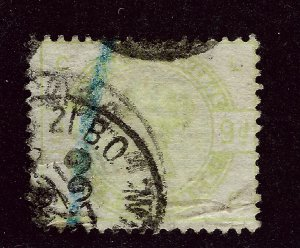 Great Britain #106 Used Upper right corner faults SCV$475...Worth a Close Look